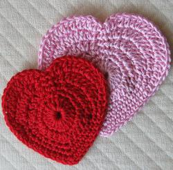 Сердечко вязание крючком