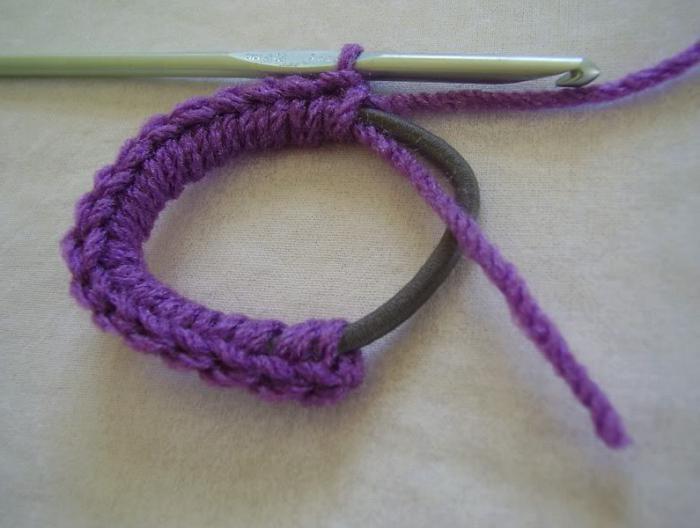 Как вязать резинку крючком? Отделка одежды, украшение волос