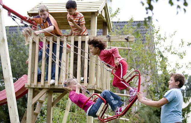 детский спортивный комплекс для дачи фото