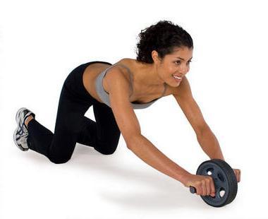 упражнения с роликом для пресса для женщин