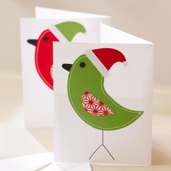 Как сделать открытку с птичкой, бабульки
