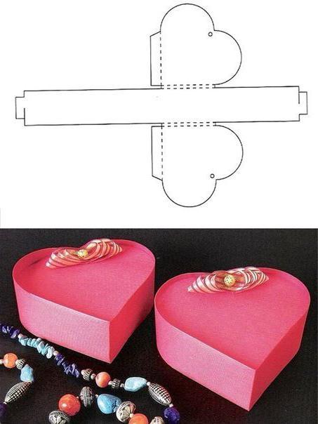 Как сделать сердечко коробочку