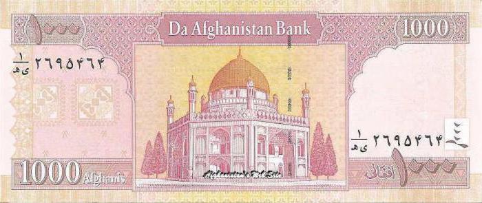 Афганистан: валюта. Описание и фото