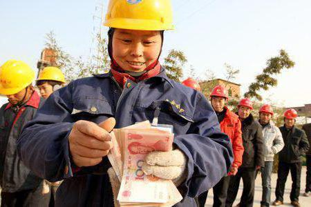 средняя зарплата в китае в рублях