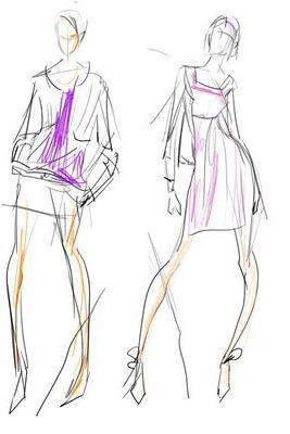 как нарисовать эскизы моделей одежды