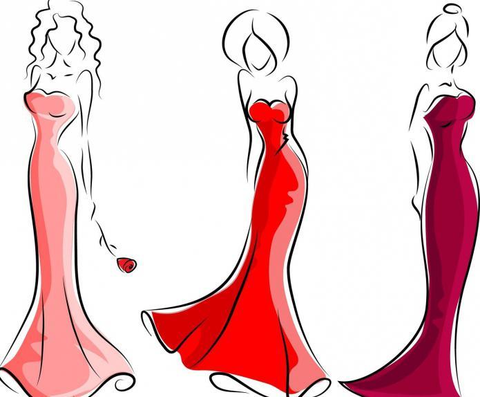 как делать эскизы одежды