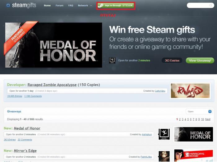 получаем бесплатно игру в steam