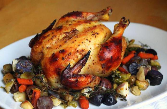 Запечённая курица в духовке с овощами рецепт пошагово