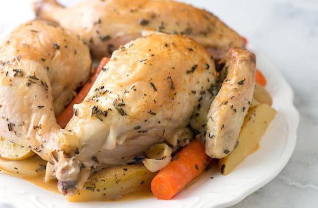 Курица в с овощами духовке