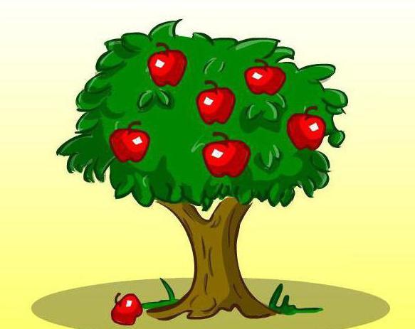Яблони нарисованные детьми
