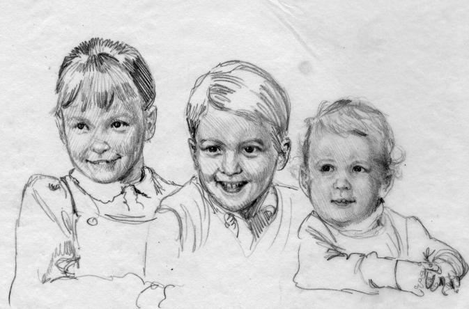 нарисовать ребенка карандашом