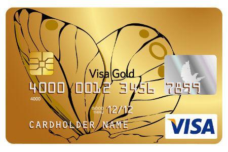 Золотая кредитная карта Visa