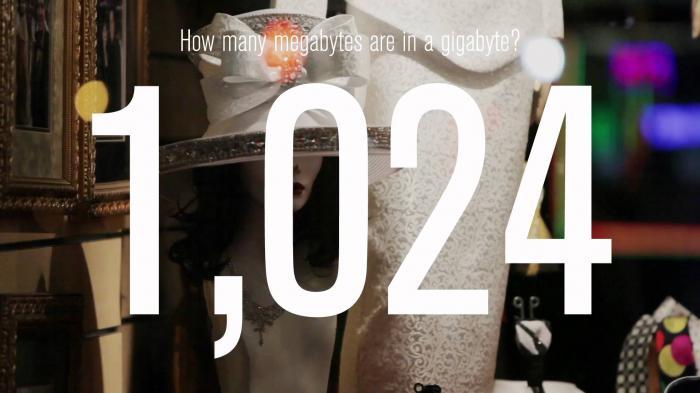 сколько мегабайт в гигабайте