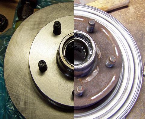 1664707 - Толщина новых задних тормозных колодок