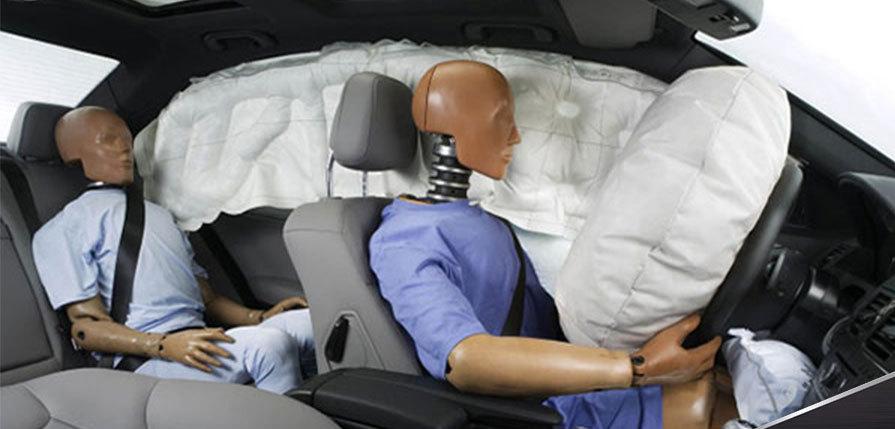 срабатывание подушек безопасности
