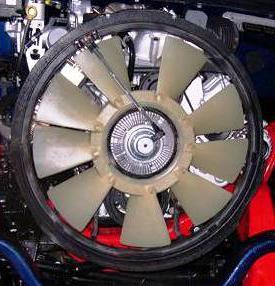 вентилятор охлаждения двигателя калина