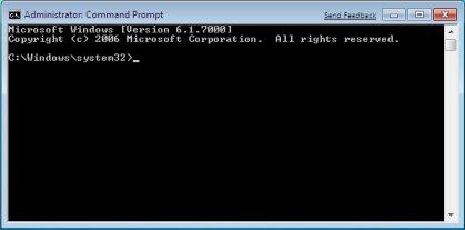windows 7 запуск командной строки