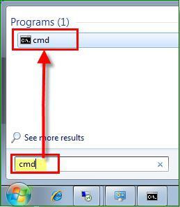 запустить командную строку windows 7