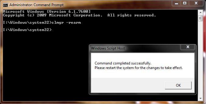 активировать windows 7 командная строка