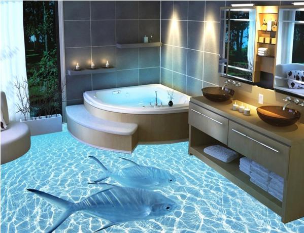 жидкий пол в ванной