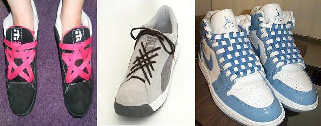шнуровка кроссовок с 5 дырками