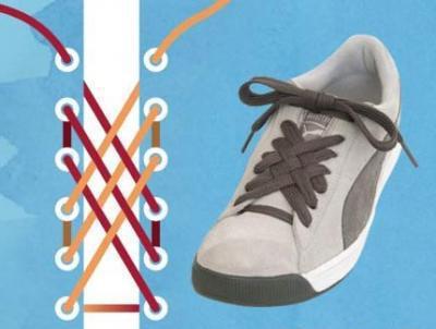 шнуровка кроссовок с 6 дырками