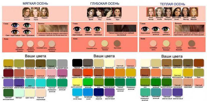 сочетание цветов в одежде для женщин таблица на русском с примерами