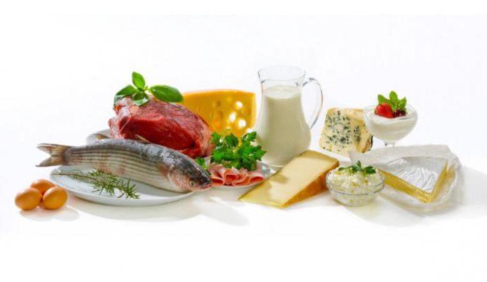белковая диета список продуктов таблица