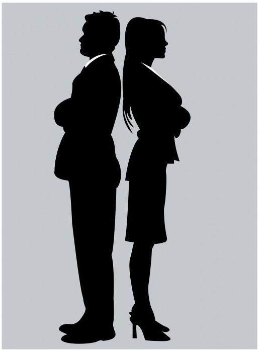 Мужской и женский силуэт картинки