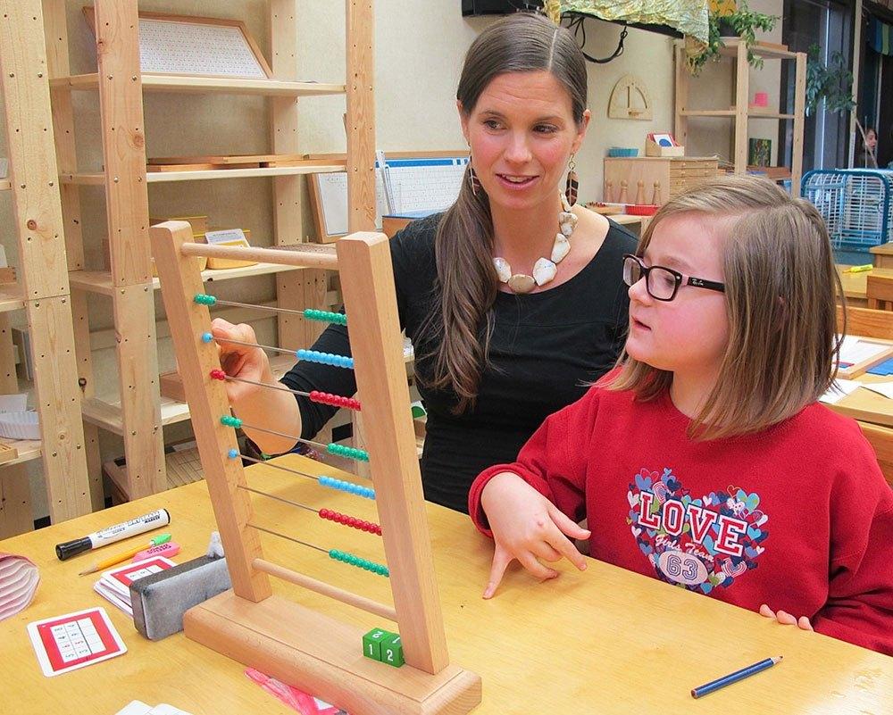 Montessori technique for children 1 year old