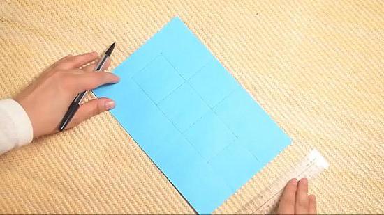 Квадрат из бумаги схема