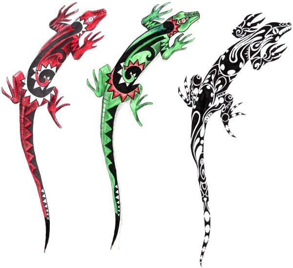 Карандашом как нарисовать ящерицу
