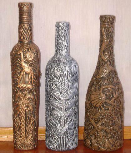 Пейп арт бутылки