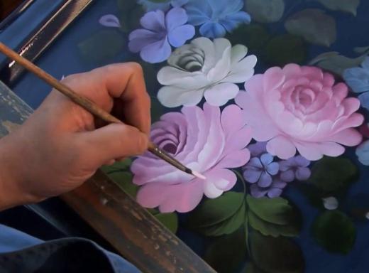 Жостовская роспись как рисовать