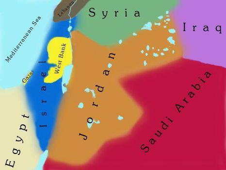 Иордания карта
