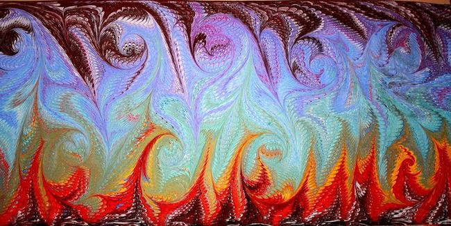 Искусство эбру рисование на воде