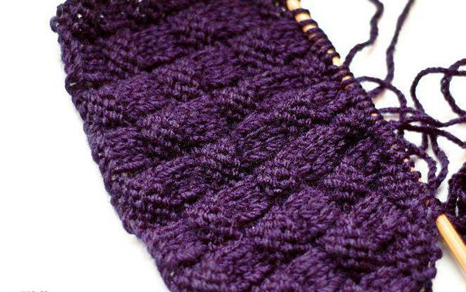 как связать узор плетенка спицами