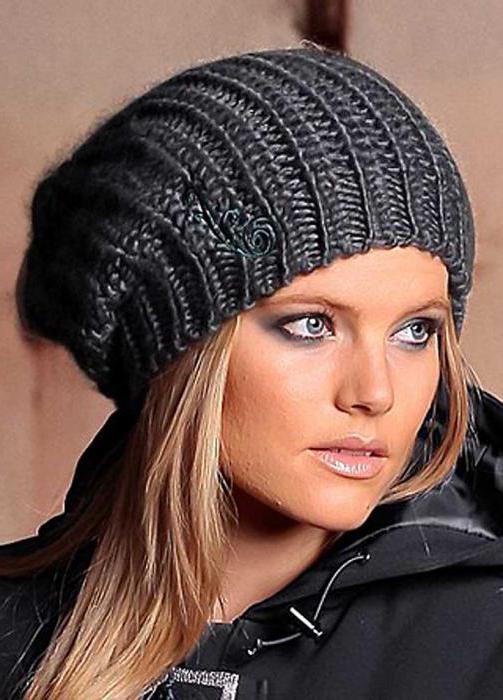 Схемы модных шапок спицами