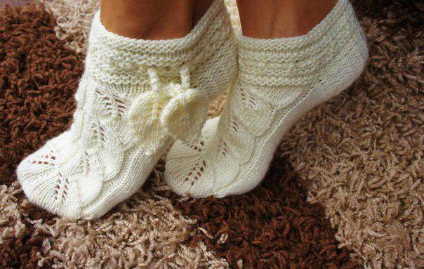 вязание ажурных узоров для носков