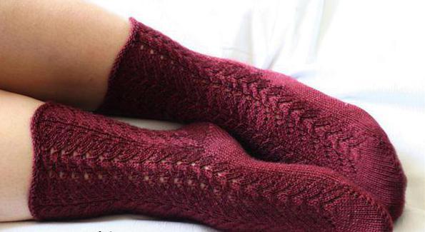 ажурные дорожки для вязания тонких носочков