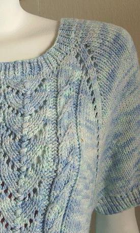 схема вязания свитера регланом