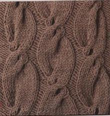 вязание спицами схемы узоров косы