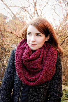 узоры для шарфа снуда спицами