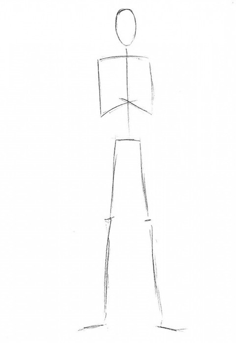 Detail about how to draw a Slenderman
