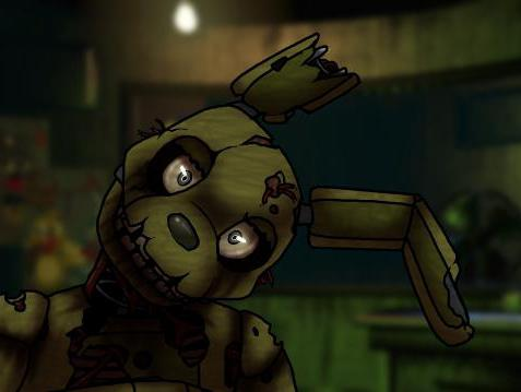 Details of how to draw Springtrap