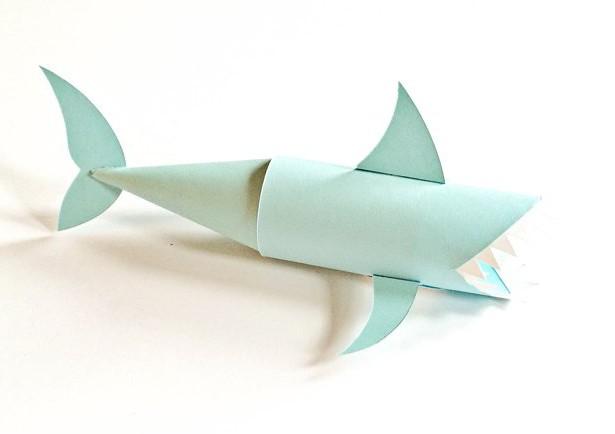 как из бумаги сделать акулу