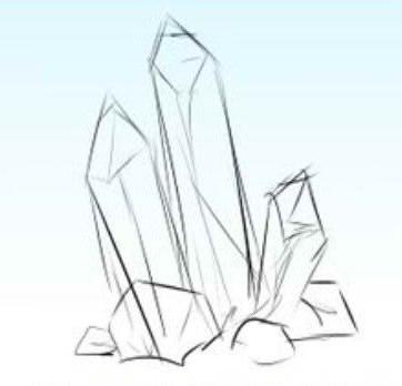 как нарисовать кристаллы