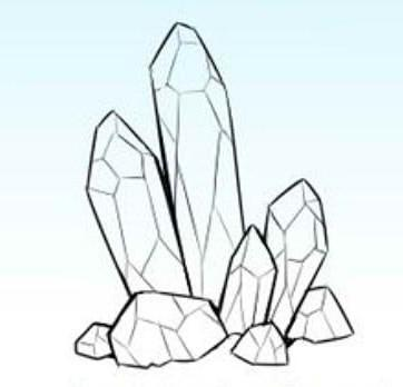как нарисовать кристалл карандашом