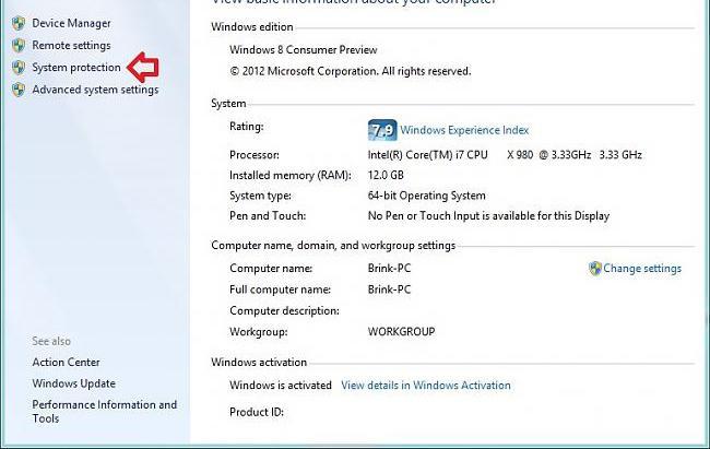 как откатить windows 7