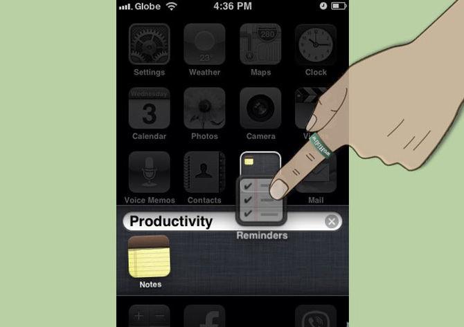Как на айфоне создать папку в меню